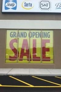 large sale sign